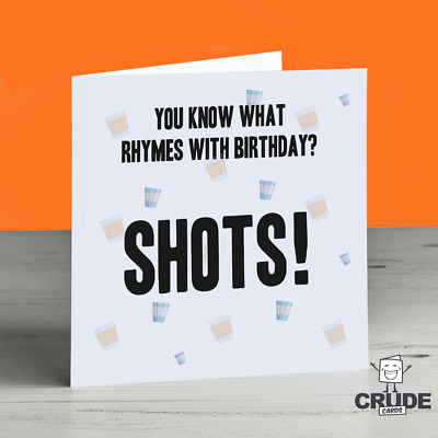 Prosecco Birthday Card Funny Alcohol Drinker Drinking