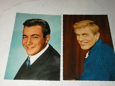 2 Starpostkarten (Bobby Darin, Adam Faith)