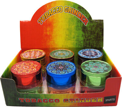 "(12) 1.9"" Aluminum Grinder 4 PC Tobacco Herb Spice Grinder Candy Colors"