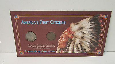 America's First Citizens - Classic United States Coins - Indian Penny and Nickel