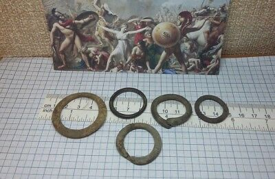 5 pcs.Perfect Ancient Celtic Bronze Ring Proto Money 600-400BC Old Pre-Coin #223