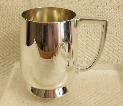 Stunning Heavy Vintage Silver Plated Tankard by Barker Brothers Great Condition
