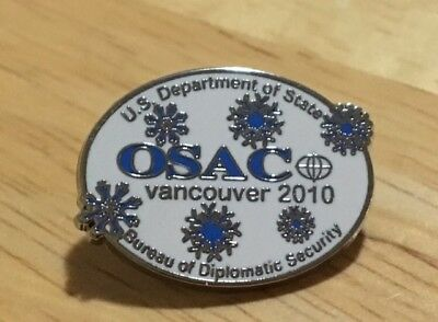 2010 Vancouver Olympic pin US Department of State Bureau of Diplomatic Security