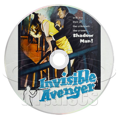 Invisible Avenger (1958) (The Shadow) Action, Crime, Drama Movie / Film on DVD