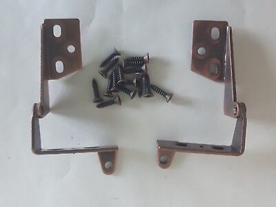 Amerock 270 degree Flap Hinge Copper lot of 2 screws New Old Stock Vintage
