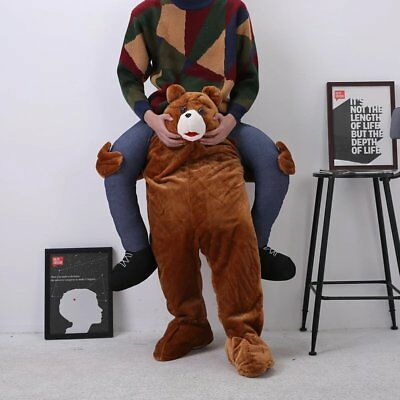 Ride On Teddy Bear Shoulder Carry Me Piggy Back Fancy Dress Adult Party Costume