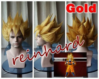 Dragon Ball- Son Goku cosplay anime Full Wig( gold / yellow )