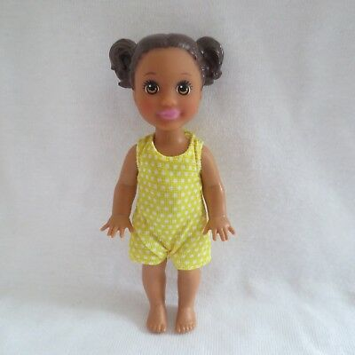 NEW 2018 Barbie Skipper Babysitters Inc AA Toddler Doll & Yellow Overalls Outfit