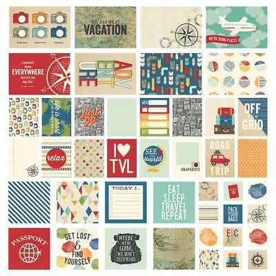 Simple Stories Sn@p Pack - TRAVEL NOTES 48 pieces - pocket page scrapbooking