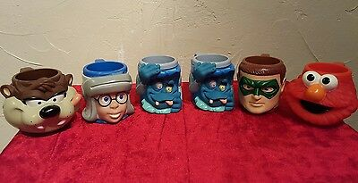 VINTAGE APPLAUSE lot of 6 MUG CUP CHARACTERS