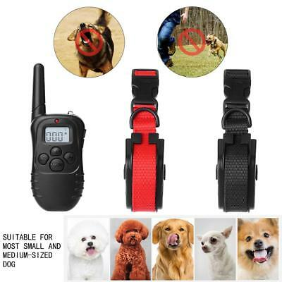Waterproof 300m Remote Pet Dog Bark Stop Device Shock Collar Training Repeller