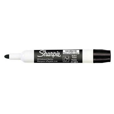 12 x BLACK Sharpie Whiteboard Markers  Bullet Point AP013209 S0743881^