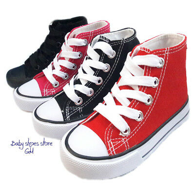 Toddler boys girls sneakers canvas tennis high top kids shoes