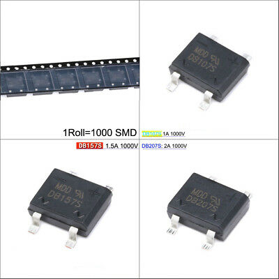 DB Series SMD Diodes Bridge Rectifiers DB107S/DB157S/DB207S 1A/1.5A/2A 1000V