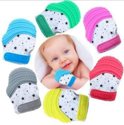 Baby Silicone Mitt Teething Mitten Teething Glove Candy Wrapper Sound Teether AU