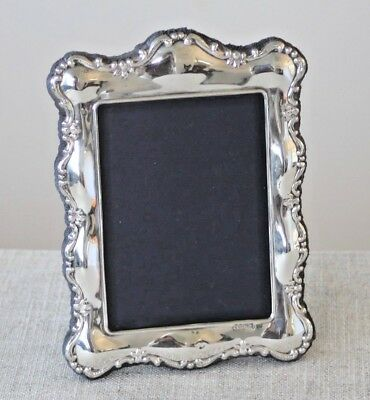 Vintage sterling silver photo frame 4ins x 3ins hallmarked Sheffield 1989