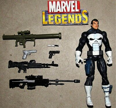 Marvel Legends Face Off Exclusive Series 2 Punisher Figure & Custom Weaponry Lot