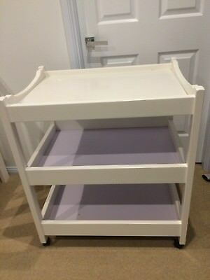 Grotime Baby Change Table with storage levels - white