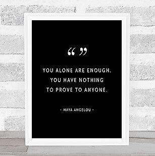 You Alone Quote Print Black & White