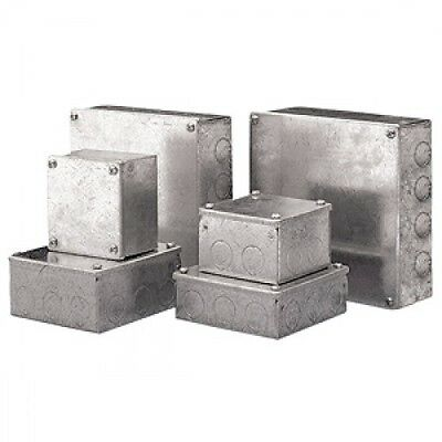 150mm x 100mm x 50mm Pre Galvanised Junction box Steel Adaptable box enclosure
