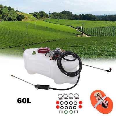 60L ATV Weed Sprayer Spot Boom Spray Tank Chemical Garden Farm Water