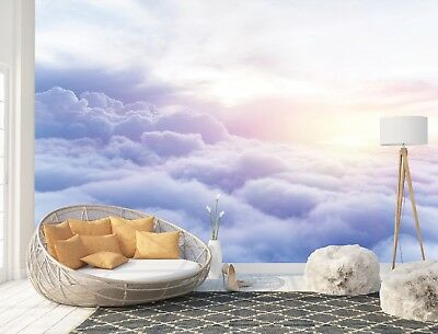 Wall Mural Photo Wallpaper Picture EASY-INSTALL Fleece Purple Blue White Clouds