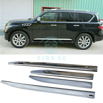 ABS Door Side Sill Trim Plate Guard Board Protect For Infiniti QX56 QX80 2011-17