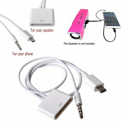 3.5mm AUX Audio Jack Cable to 30 Pin Adaptor Converter For iPod iPhone 4s Dock