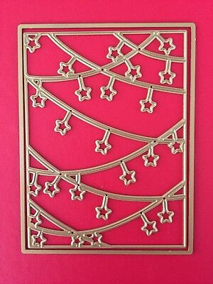NEW• STARS BACKGROUND DIE SET For Sizzix Or Cuttlebug