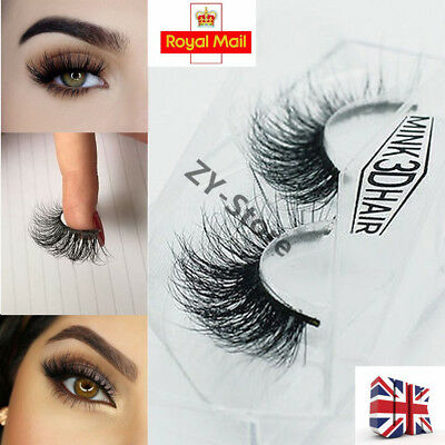 3D Mink Natural Thick False Fake Eyelashes Hand Made Lashes Makeup Extension Set