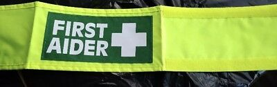 First Aid Arm Band Yellow Green Velcro One Size Events Festivals security school