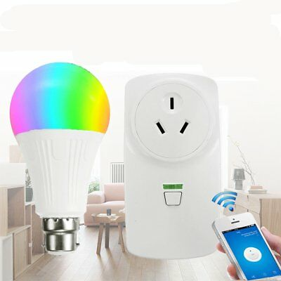 Wireless Wifi Smart Power AU Plug Socket Outlet Switch For ECHO Alexa Google TU