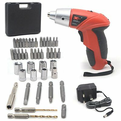 45Pc 4.8V Cordless Reversible Rechargeable Drill Electric Power Screwdriver Case