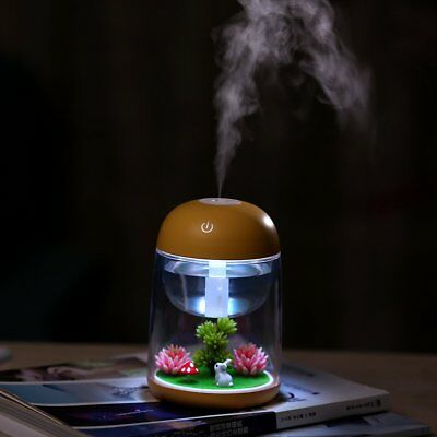 Mini Humidifier Timing Night Light Air Fresher USB Landscape Aroma Diffuser TU