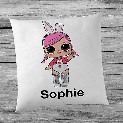 LOL Surprise Doll Hops Inspired Cute Girl's Personalised Name Cushion Cover Kids