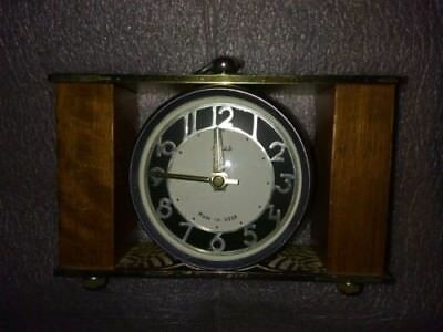 Vintage Majak  Mantel clock Soviet Russia working - wood and metal