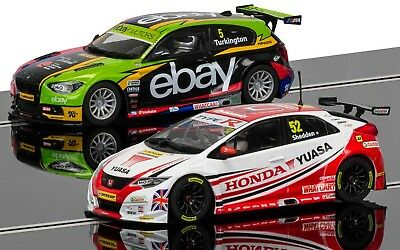 C3694A Scalextric BTCC Champions BMW 125 S1 & Honda Civic Twin Pack 1:32 Scale