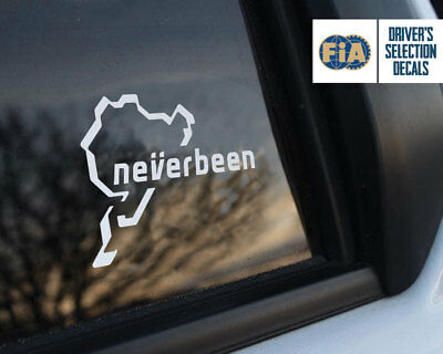 Neverbeen Car Sticker Nurburgring JDM DUB DECAL RING