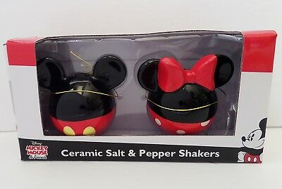 Disney - Mickey & Minnie Mouse Body Ceramic Salt & Pepper Shakers