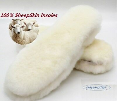 Real Sheepskin Pads Reline Uggs Insoles Shoe inserts Slippers Boots Women Men