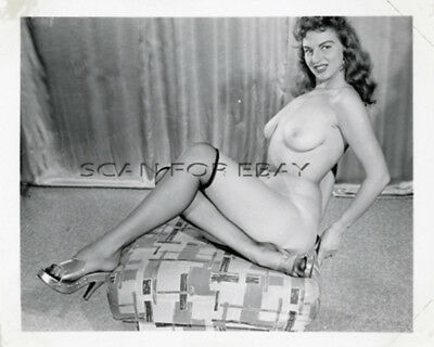 Jackie Miller Nude 4X5 Original Photo Busty Model Vintage 1950's Pinup VM13