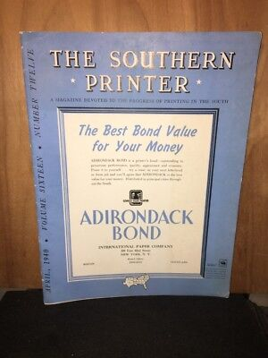 The Southern Printer Magazine, April 1940 Issue Volume 16