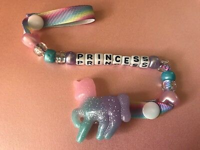 Princess Shimmer Unicorn  Dummy / Soother Clip ~ New ~ Popular ~ Ideal Gift ~