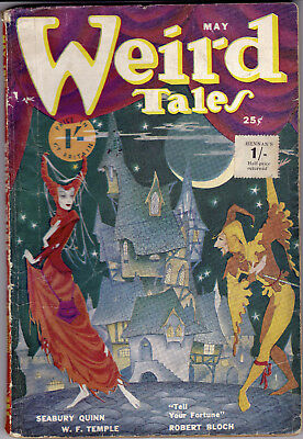 WEIRD TALES May 1950 (Brit ed) Seabury Quinn, Clark Ashton Smith,Robert Bloch