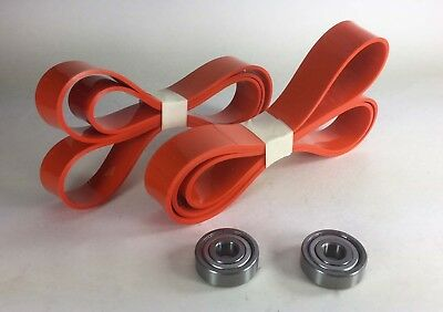 2 Urethane TIRES and 2 Thrust BEARINGS DELTA 28-207 Band Saw USA Free Shipping
