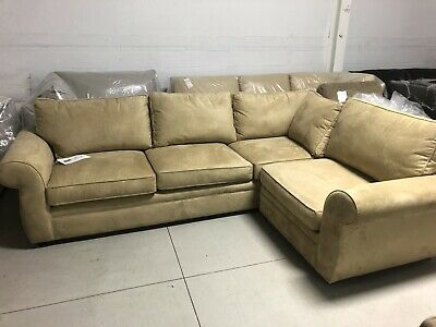 Pottery Barn Pearce Couch Sofa Sectional Light Wheat