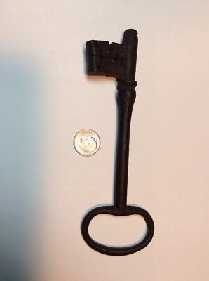 Large Antique Skeleton Key French Door Gate Latch As Found Cast Iron