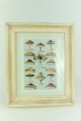 Wall Picture Print Vintage style Victorian style Fruit Deserts