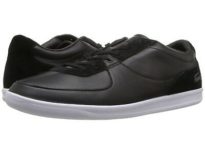 d9a327927 Lacoste LS 12-Minimal Black Leather Suede Trainers Uk 7 Eu 40.5 RRP £95.00
