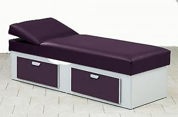 Clinton Upholstered Apron Couch with Double Drawer Storage Model 3713-16